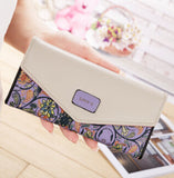 Flower-Pattern Women's Wallet