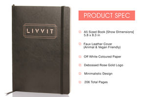 Undated Black LIVVIT Planner