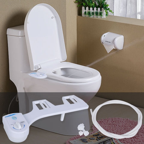 Nozzle Water Spray for Bathroom Toilet Seat Attachment