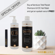 Nanoluxe Shampoo Total Repair and Ice Hair Mask with FREE Eyelash Serum