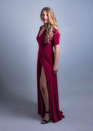 Wrap Dress Burgundy