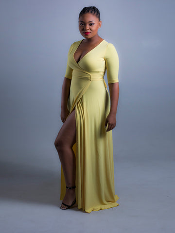 Wrap Dress Yellow