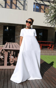 Classic White Maxi (Suiting)