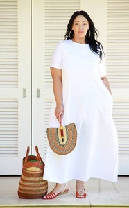 Classic White Maxi (Egyptian Cotton)