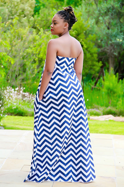 Empress Chevron Navy Blue