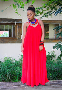 Slip Dress Red