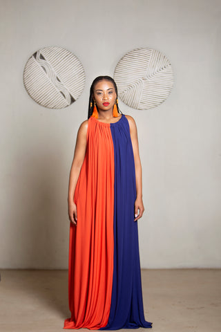 Zuri Original Contrast Burnt Orange & Ink Blue