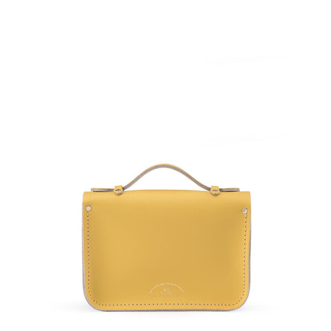 Magnetic Mini Satchel in Leather - Light Lilac, Matte Indian Yellow & Chalk