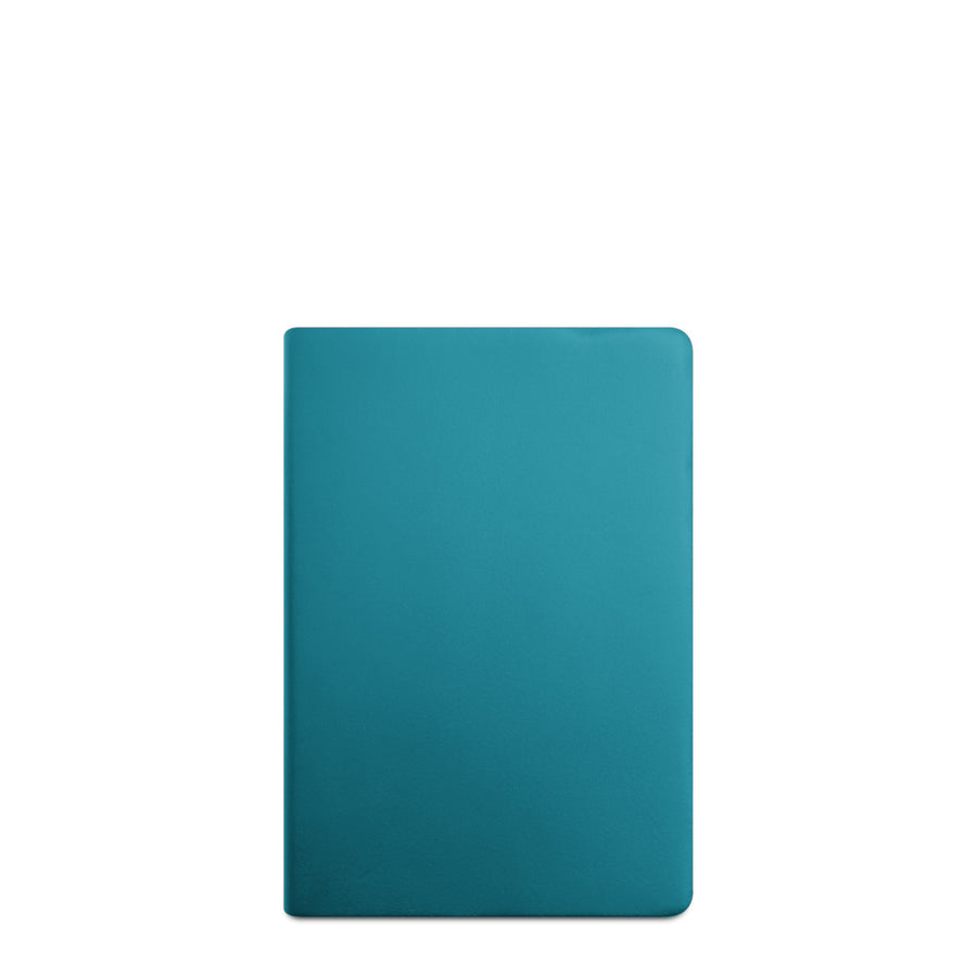 A5 Notebook in Leather - Aqua