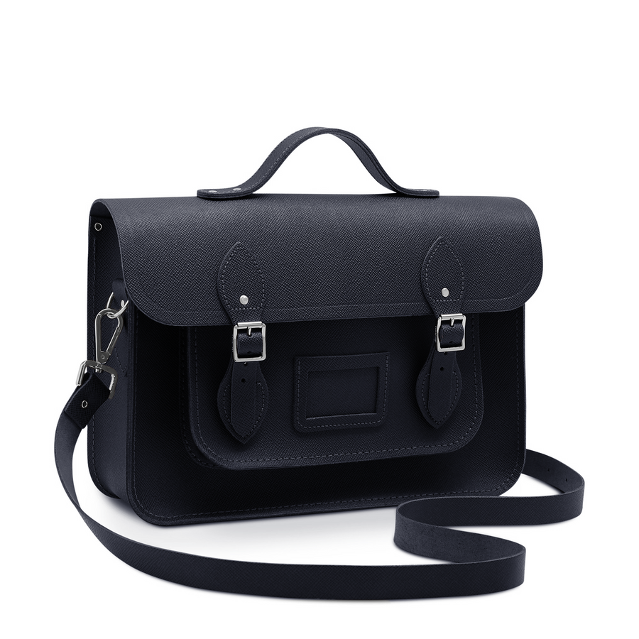 Navy Cambridge Satchel Large Leather Satchel Bag