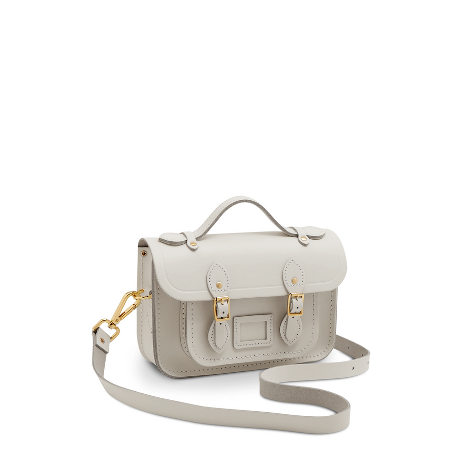 Small White Cambridge Satchel Company Tiny Handbag