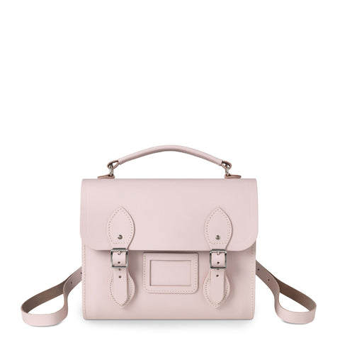 Barrel Backpack in Leather - Peach Pink Patent