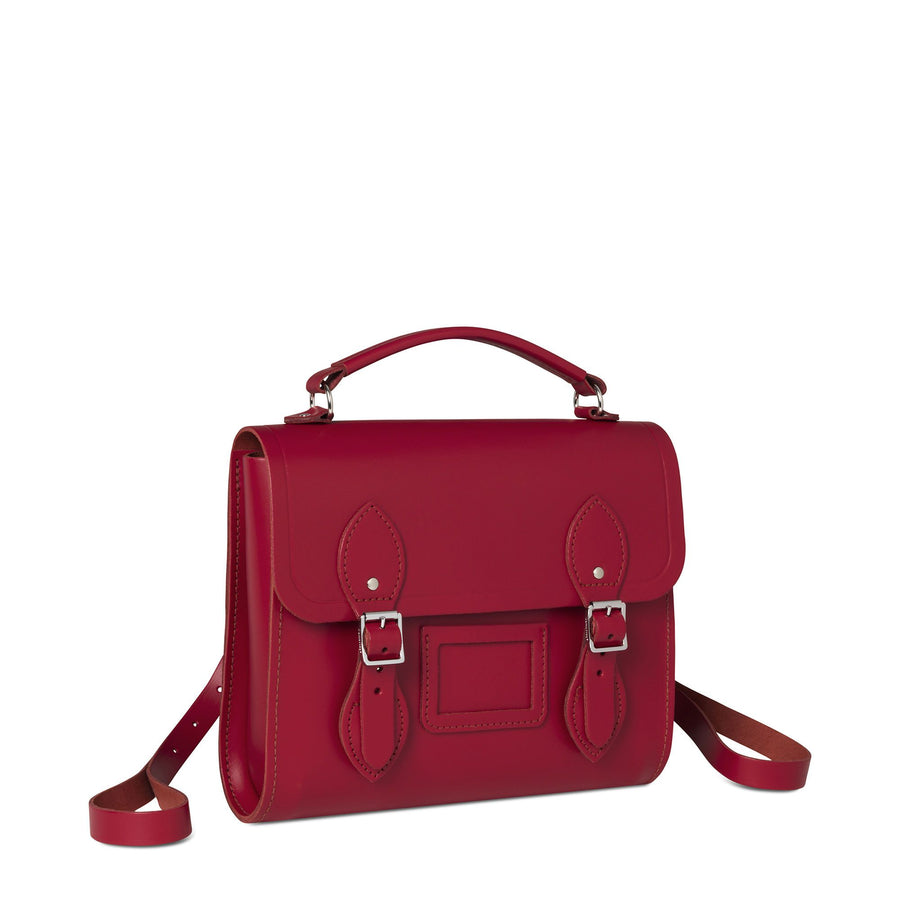 Barrel Backpack in Leather - Crimson