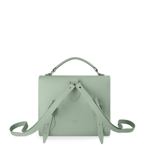 Barrel Backpack in Leather - Sabi Green