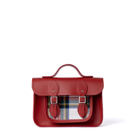 11 Inch Magnetic Batchel in Leather - Red & Red Tartan