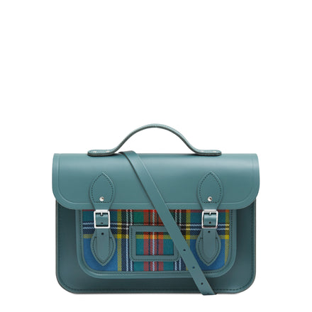 13 Inch Batchel with Magnetic Closure - Fir & Strome Macbeth Tartan | Cambridge Satchel