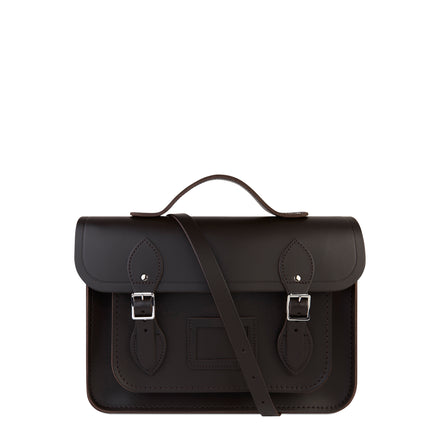 13 Inch Batchel with Magnetic Closure - Dark Brown - Cambridge Satchel