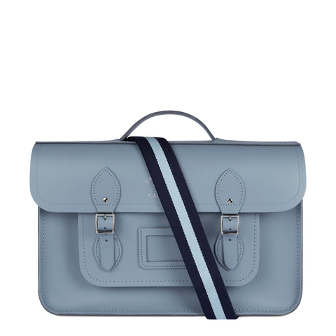 15 Inch Classic Batchel in Leather - French Grey (University of Cambridge)