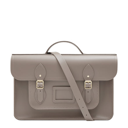 Mink Cambridge Satchel Large Leather Satchel Bag