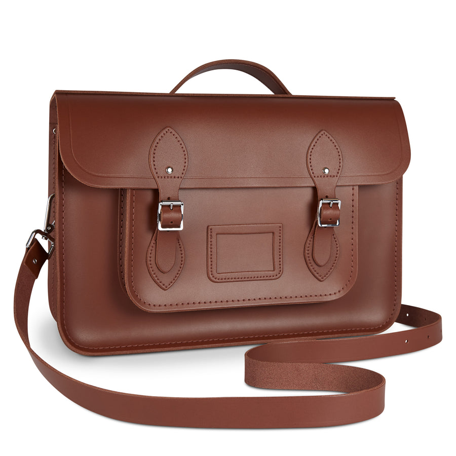 15 Inch Classic Batchel in Leather - Bay | Cambridge Satchel