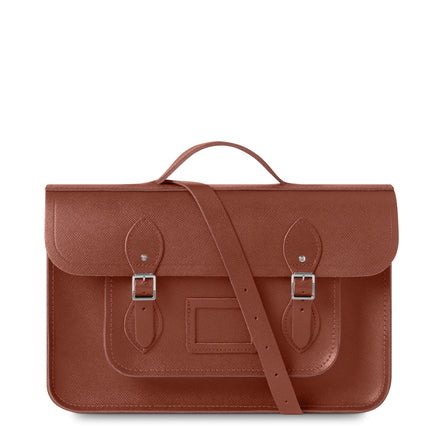 15 Inch Classic Batchel in Leather - Bay Saffiano | Cambridge Satchel