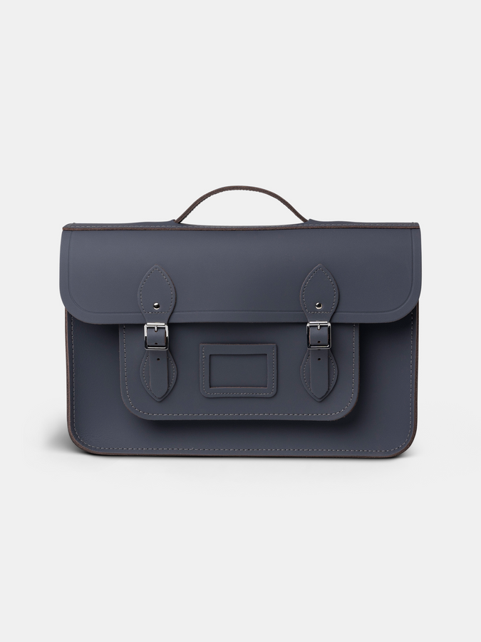 Grey Cambridge Satchel Briefcase Mens Bag