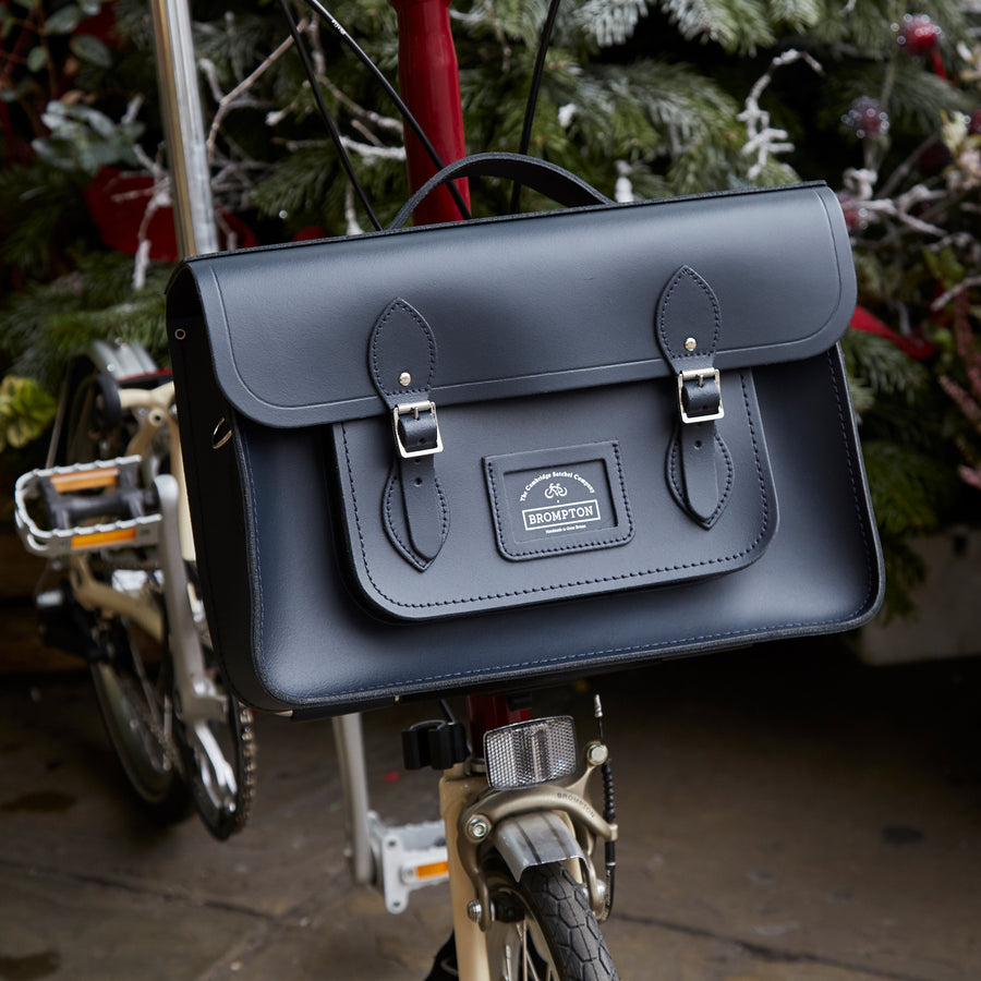 The Brompton Bike 15 inch Batchel - Navy - Cambridge Satchel