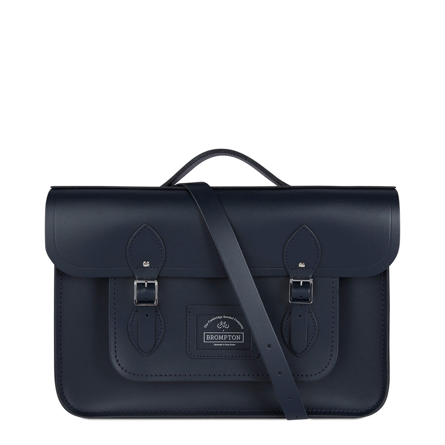 Navy CSC x Brompton Large Leather Navy Satchel Bag