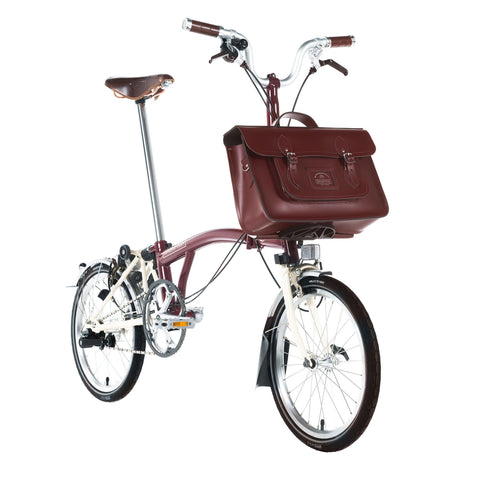 The Brompton Bike 15 inch Batchel - Oxblood - Cambridge Satchel