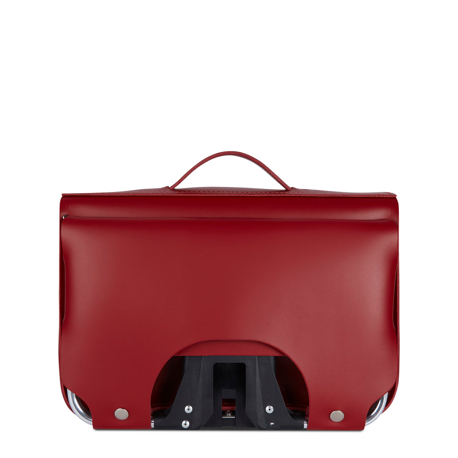Red CSC x Brompton Large Leather Red Satchel Bag
