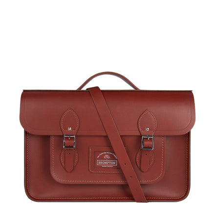Brown CSC x Brompton Large Leather Brown Satchel Bag