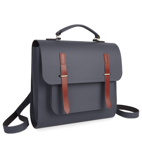 Bridge Closure Backpack in Leather - Dapple Matte & Tan