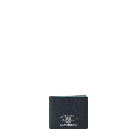 Billfold wallet in Saffiano - Navy/Cambridge Blue
