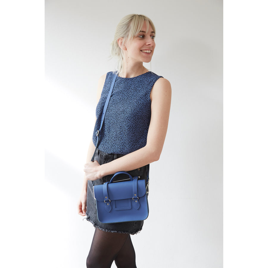 Melody Bag In Leather - Italian Blue Matte