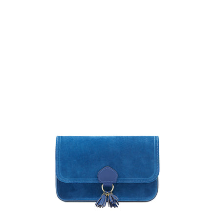 Blue Cambridge Satchel Women's Suede Clutch Evening Bag