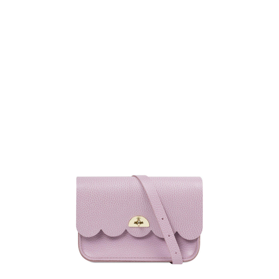 Lilac Cambridge Satchel Leather Clutch Bag