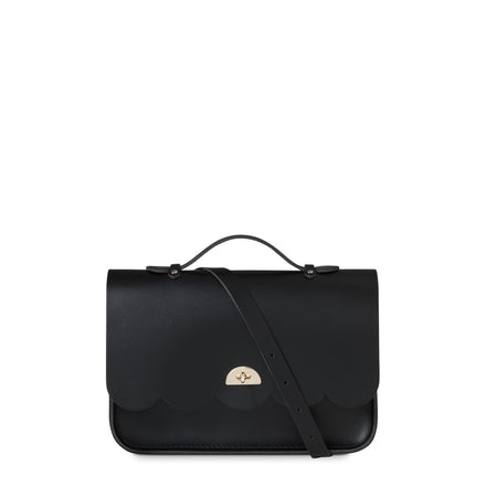Cloud Bag with Handle in Leather - Black | Cambridge Satchel