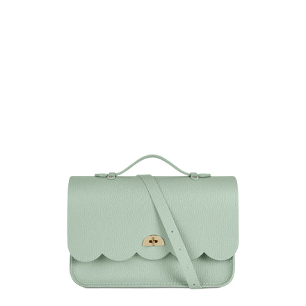 Cloud Bag with Handle in Leather - Oasis Green Celtic | Cambridge Satchel