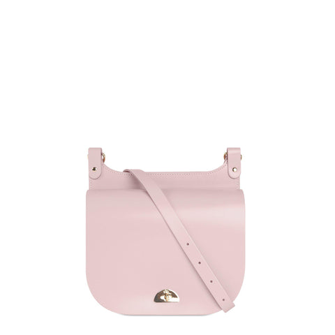 Conductors Bag in Leather - Peach Pink Patent