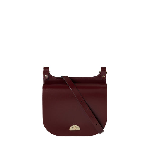 Conductors Bag in Patent Leather - Oxblood