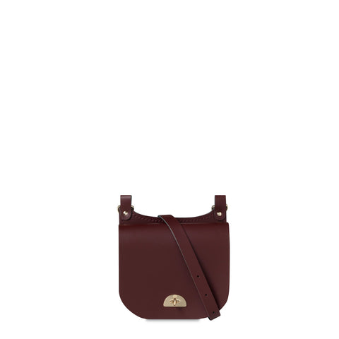 Small Conductors Bag in Patent Leather - Oxblood Patent