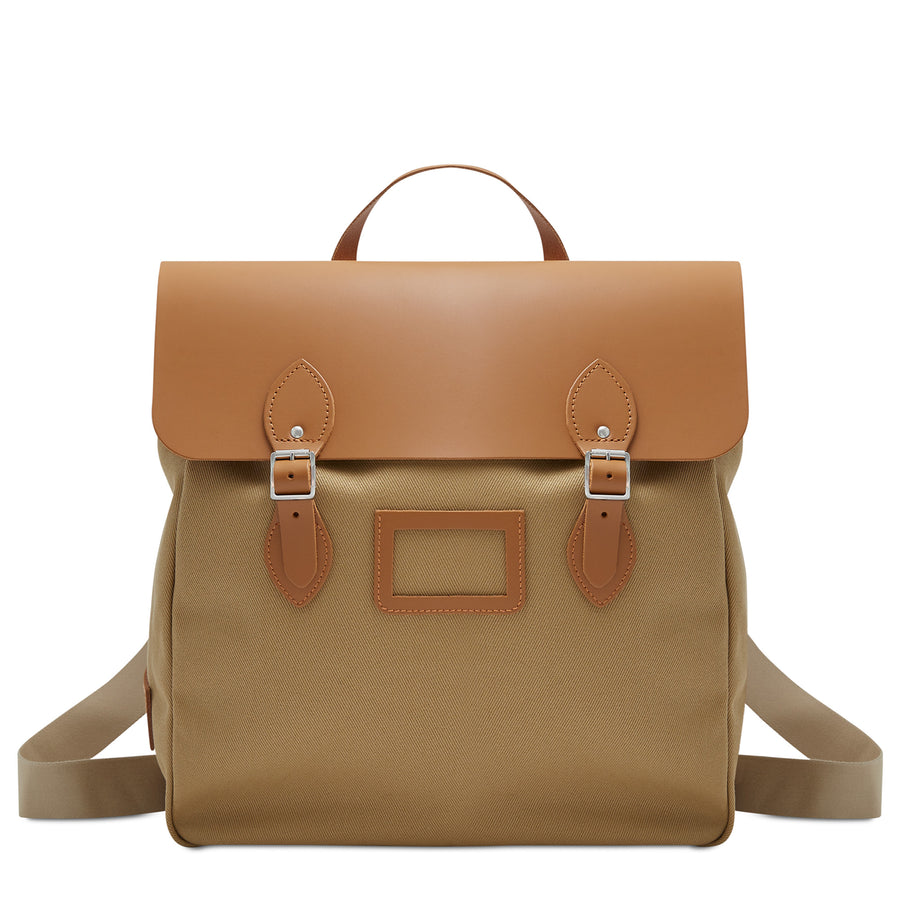 Brown Cambridge Satchel Backpack Holdall Bag
