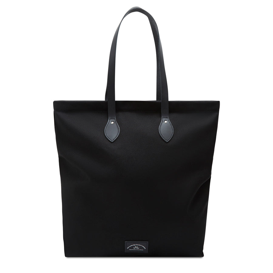 Large Canvas Tote - Black Canvas & Black Leather Trim | Cambridge Satchel