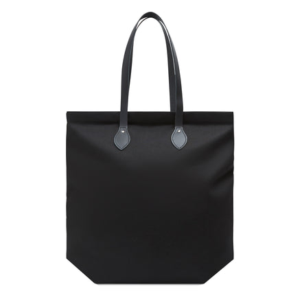 Market Bag - Black Canvas with Black Leather Trim