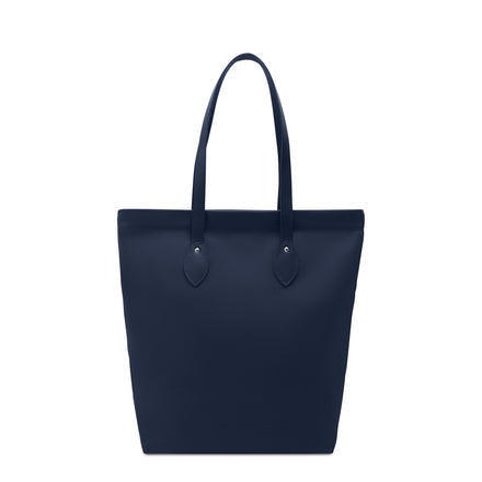 Canvas Tote - Navy Canvas & Navy Leather Trim | Cambridge Satchel