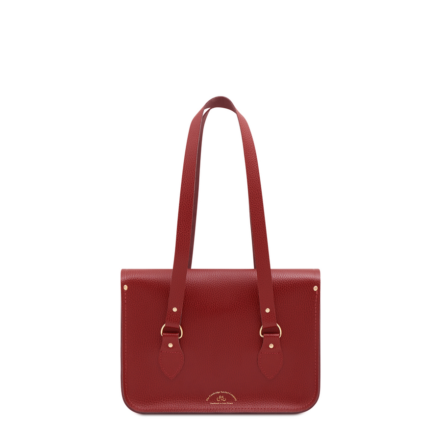 Red Leather Cambridge Satchel Company Princes Foundation Bag