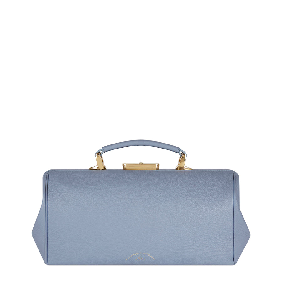 French Grey Cambridge Satchel Leather Doctors Bag