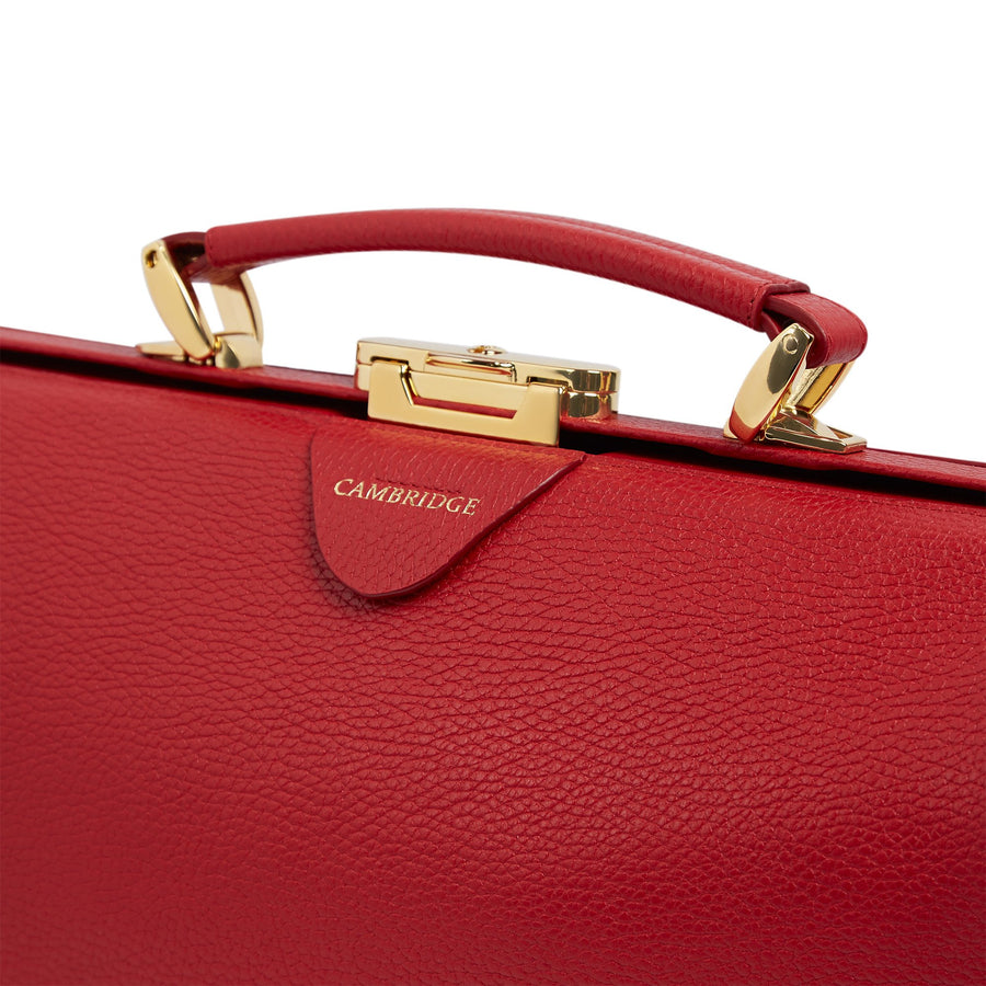 Doctors Bag - Shanghai Red Calf Grain