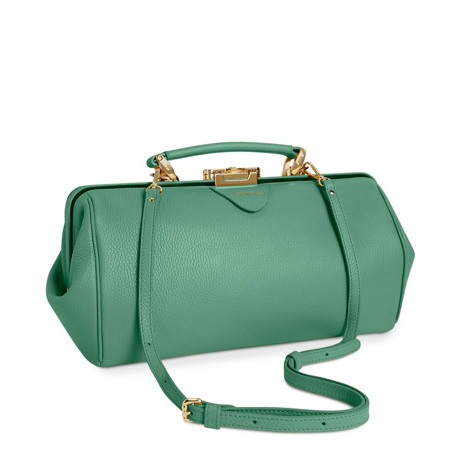Peppermint Green Calf Grain Cambridge Satchel Leather Doctors Bag