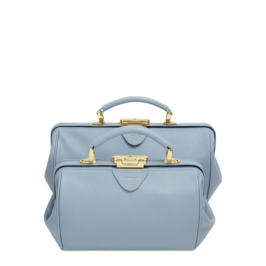 Doctors Bag - French Grey Calf Grain